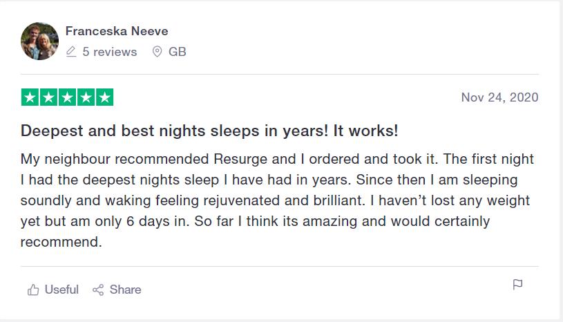 resurge sleep supplement reviews