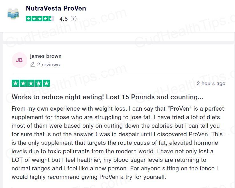 nutravesta proven customer reviews