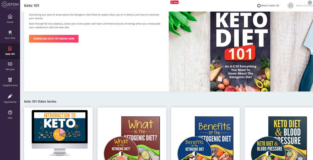 Custom Keto Diet Pdf Section